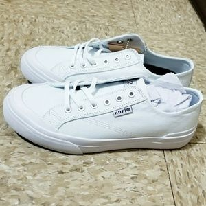 White HUF sneakers